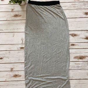 Gap Grey slit maxi skirt